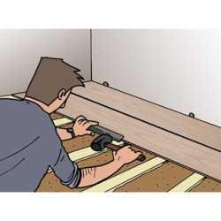 Plaatsen ondervloer en laminaat zonder plinten